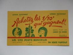Buvard Loterie Nationale émis Par Le Crédit Du Nord. - Buvards, Protège-cahiers Illustrés
