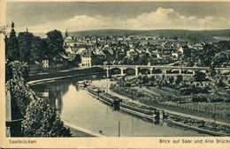 Saarbrücken - Blick Auf Saar Und Alte Brücke 1942 (001309) - Saarbrücken