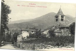 L'ARIEGE  AXIAT  Près Luzenac L' Eglise Romane Labouche Recto Verso - France