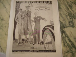 ANCIENNE PUBLICITE MAGASIN BELLE JARDINIERE JEUNES GENS 1934 - Habits & Linge D'époque