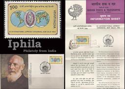 Leprosy Congress 1984 FDC Folder Health Medicine Gesundheit Médicament Médical Chirurgie Doctors Disease - Medicine