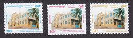 Cambodia, Scott #1472-1474, Mint Hinged, Main Post Office, Issued 1995 - Cambodia