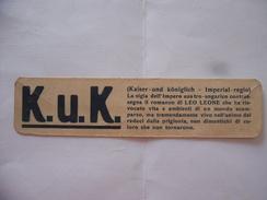 WW2 SEGNALIBRO K.U.K.CASA EDITRICE POLEMICA-BOLOGNA. - Segnalibri