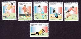 Cambodia, Scott #1497-1502, Mint Hinged, Soccer, Issued 1996 - Cambodia