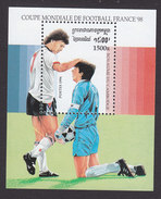 Cambodia, Scott #1503, Mint Hinged, Soccer, Issued 1996 - Cambodja