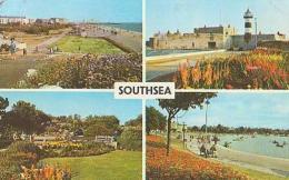Angleterre        586       Southsea. 4 Views.Promenade , Rock Gardens..... - Portsmouth