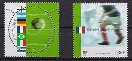 "FR YT 3483 & 3484 "" Champions Monde Football "" 2002 Neuf** - Nuevos"