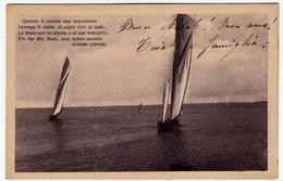 BARCHE A VELA - 1912 - Vedi Retro - Formato Piccolo - Chiatte, Barconi