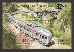 Cambodia, Scott #1513, Mint Hinged, Trains, Issued 1996 - Cambodia