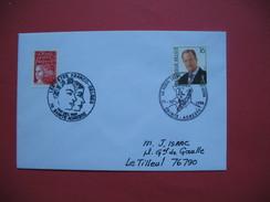 Ste Adresse  1998    Oblitération   La Poste Belge à Ste Adresse  Les Fêtes Franco Belge Pour Le Tilleul - Marcophilie (Lettres)