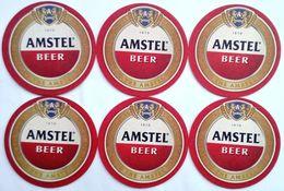 AMSTEL BEER, Beer Mats X 6 Pcs. - Portavasos