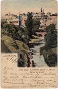 LUSSEMBURGO - LUXEMBOURG - VILLE HAUTE: CATHEDRALE, EGLISE S. MICHEL, EGLISE DU GRUND- 1903 - Vedi Retro - Formato Picc. - Lussemburgo - Città