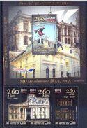 Chile 2007 YT 1764-66 BF 75. ** 260 Años Del Correo. Cartero. Bicicleta. See Desc. - Cile