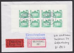 Brandenburger Tor Berlin Eil-R-Bf Sonneberg  (219)mit MH21 Portogenau Aus Sonneberg, Rs. Eing.-St. - [6] Democratic Republic