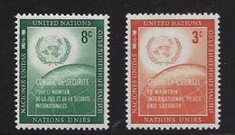ONU NEW-YORK 1957 CONSEIL DE SECURITE  YVERT N°52/53  NEUF MNH** - New York -  VN Hauptquartier