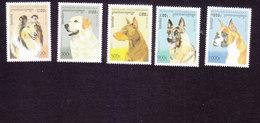 Cambodia, Scott #1564-1568, Mint Hinged, Dogs, Issued 1996 - Cambodia