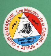 CLUB DE MARCHE LES METALLOS DE LA CHIERS ATHUS   / AUTOCOLLANT - Autocollants