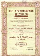 Aandeel Action Les Appartements Bruxellois - Brussel Bruxelles 1937 - Actions & Titres