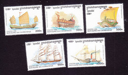 Cambodia, Scott #1572-1576, Mint Hinged, Ships, Issued 1996 - Cambodge