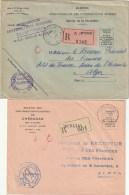 Algérie Bon Lot De 4 Lettres Recommandées En Franchise Administrations Des Contributions - Franchise Postale Enveloppe P - Lettres & Documents