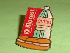 Pin's / Boissons  : Evian , Marest    TB2Q - Beverages