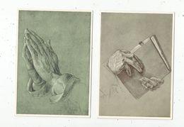Cp, Arts , Peinture & Tableaux  , ALBRECHT DÜRER , études De Mains , Vierges , LOT DE 2 CP - Pittura & Quadri