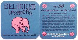 DELIRIUM TREMENS ELECTED AS BEST BEER IN THE WORLD , Beer Mat - Beer Mats