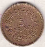 5 FRANCS 1945. Bronze Aluminium - France