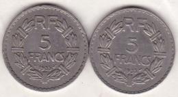 5 FRANCS 1933 Et 1935 . En Nickel - France