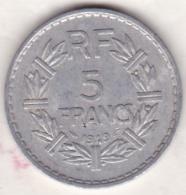 5 FRANCS 1949  (9 Fermé) Aluminium - France