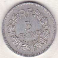 5 FRANCS 1949 B (Beaumont Le Roger).   (9 Fermé) Aluminium - France