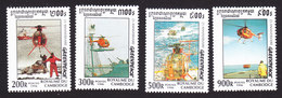 Cambodia, Scott #1585-1588, Mint Hinged, Grennpeace, Issued 1996 - Cambodia