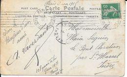 SEINE 75  - PARIS 5  -  FLAMME N° B 005 201 K -  7 LD INEGALES BLOC DATEUR 4 LIGNES    - 1915 - - Storia Postale