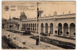 BELGIO - GAND - EXPOSITION 1913 - LES HALLES DE LA SECTION ANGLAISE - Vedi Retro - Formato Piccolo - Gent