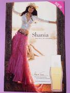 SHANIA TWAIN   SHANIA THE WILL OF A WOMAN - Perfume Cards