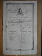 CARTOUCHE  Délivrée En 1842 à GAND à MOSSAY Jean Du 8e Régiment De Ligne 3e Bataillon Grenadiers Pour Se Rendre à HARZE - Documents