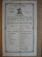 CARTOUCHE  Délivrée En 1847 à NAMUR à BRISBOIS Hubert Du 9e Régiment De Ligne 1er Bataillon 3e Comp Pr Se Rendre à HARZE - Documents