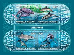 TOGO 2017 - Dolphins. Official Issue. - Dolfijnen