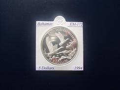 BAHAMAS 1994, 5 DOLLARS, KM-172, SILVER, PROOF-SC - Bahamas