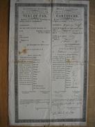 LIEGE - CARTOUCHE Délivrée En 1827 à GODINAS Jean Pour Se Rendre à HARZE - Documents