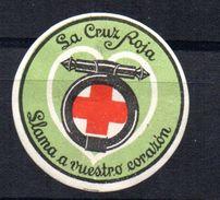 Viñeta  La Cruz Roja  Llama A Vuestro Corazon. - Viñetas De La Guerra Civil