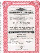 Action Uncirculed - Société Des Chemins De Fer Vicinaux Du Congo - Titre De 1954 - Chemin De Fer & Tramway