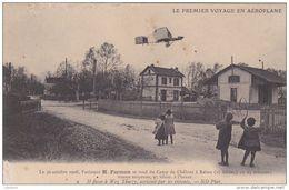 Cpa 1908 Il Passe à Wez Thuizy - L´Aviateur Farman Se Rend Du Camp De Châlons à Reims - Le Premier Voyage En Aéroplane - Autres Communes