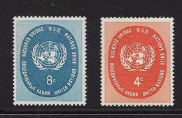 ONU NEW-YORK 1958 SCEAU DE L'ONU  YVERT N°56/57  NEUF MNH** - New York -  VN Hauptquartier