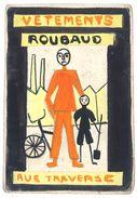 Projet De Pub Ou D'affiche (?), Papier épais - Vêtements Roubaud, Rue Traverse ( Brest ? ), Homme, Enfant, Vélo, Usine - Publicités