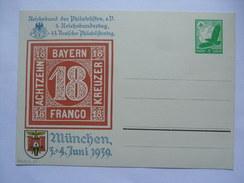 GERMANY 1939 REICHSBUND DER PHILATELISTEN MUNCHEN 45 DEUTSCHER PHILATELISTENTAG  POSTKARTE - Germany