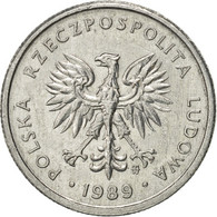 Pologne, 2 Zlote, 1989, Warsaw, SUP, Aluminium, KM:80.3 - Poland