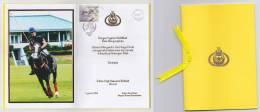 Malaysia Card Photo Sultan Of Brunei Stamp Sea Games Royal Muslim 2017 Sultan Hassanal Bolkiah - Brunei