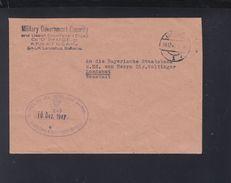 Alliierte Besetzung Mil Gov Security US APO 407 Bayern Brief 1947 Landshut - American/British Zone