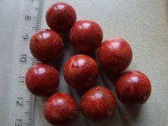 1 Perle De Corail Sponge Rouge Environ 14mm - Perles